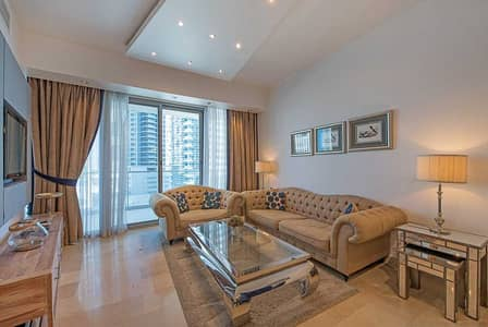 1 Bedroom Apartment for Rent in Dubai Marina, Dubai - Stylish and Sleek 1 Bed + Study near the JBR beach