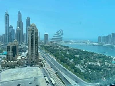 مکتب  للايجار في أبراج بحيرات الجميرا، دبي - PALM JUMEIRAH MARINA VIEW/ HIGH FLOOR/ SPACIOUS OFFICE FOR RENT IN  CONCORD TOWER