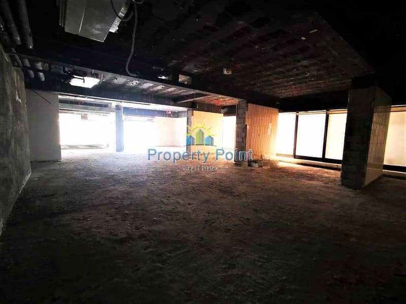 321 SQM Showroom for RENT | Shell and Core | Great Location | Corniche Road