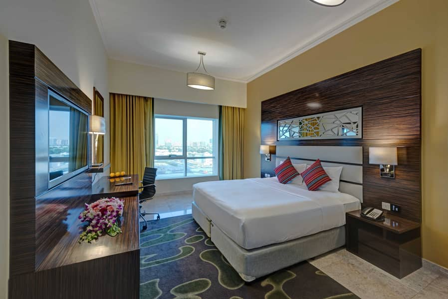 شقة في فندق غايا جراند مدينة دبي للإنتاج 1 غرف 8999 درهم - 4697791