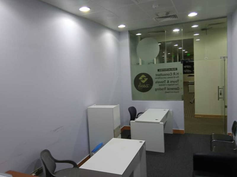 2 No Commisson|Furnished office for rent|Deira Creek