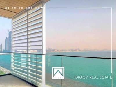 فلیٹ 4 غرف نوم للبيع في جزيرة بلوواترز، دبي - Full Sea View | Vacant | Largest | Corner Unit