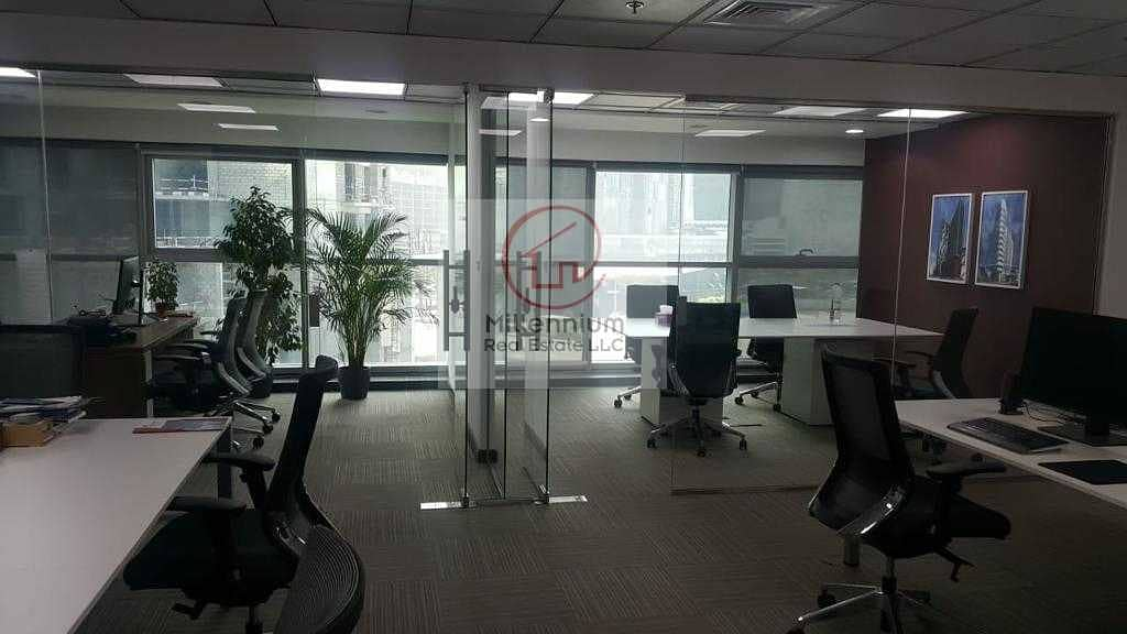 2 SPACIOUS & FITTED office for sale / 15 min walking distance to metro station / Close to Dubai Downtown