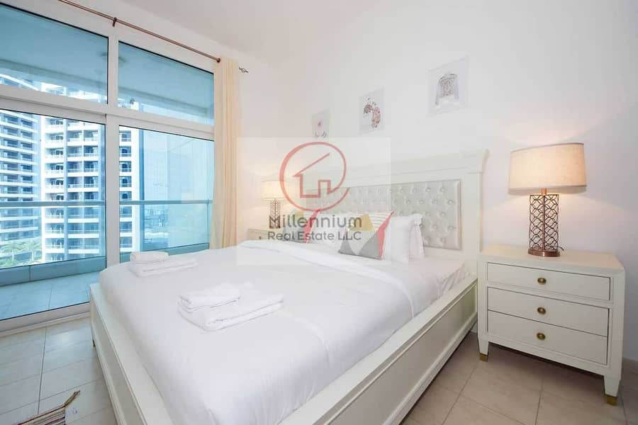 Fully furnished & Spacious 3 BHK in FAHAD 2 tower