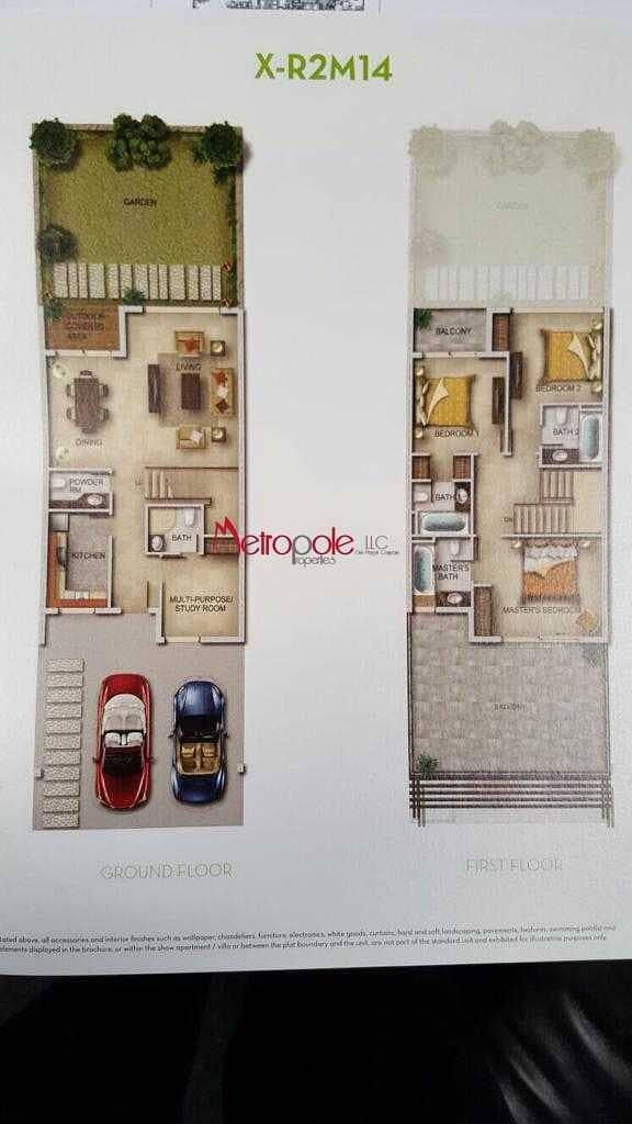 15 New Villa   Best Layout 3 br + Maid room  Type X-R2M14