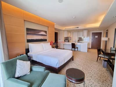 Hotel Apartment for Rent in Downtown Dubai, Dubai - BIG LAYOUT STUDIO| FULLY FURNISHED|HIGH FLOOR