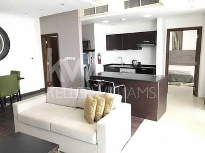 فلیٹ 1 غرفة نوم للايجار في مدينة دبي الرياضية، دبي - Lovely Furnished Corner One BR with Large terrace