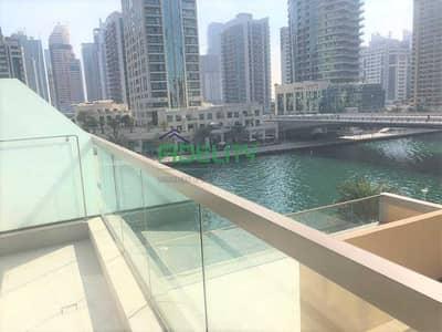 1 Bedroom Flat for Rent in Dubai Marina, Dubai - No Commission  Big Terrace   Chiller Free  Partial Marina View