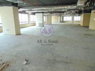 مکتب  للايجار في شارع النجدة، أبوظبي - Huge Shell and core mezzanine full floor in Najda