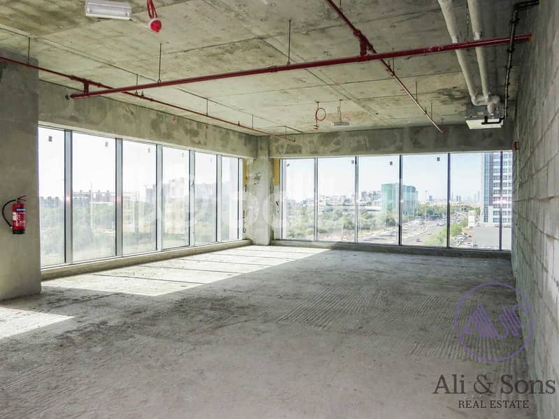 Affordable shell and core office space for rent