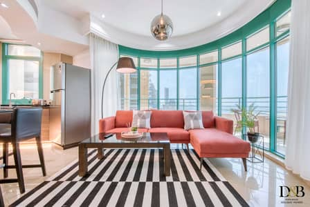 2 Bedroom Flat for Rent in Dubai Marina, Dubai - Stunning View! Newly Furnished 2 bedroom  in Marina