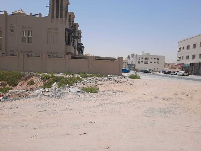 Commercial residential land on the corner of two streets,
