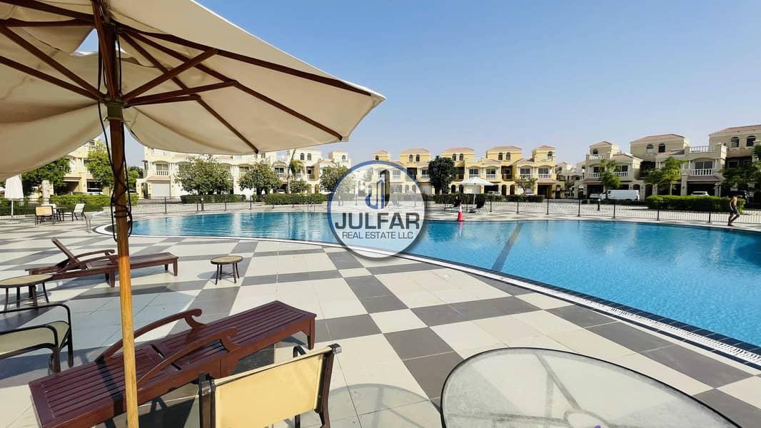 POOL VIEW 3BHK+ Maid's Room Al HAMRA VILLAGE