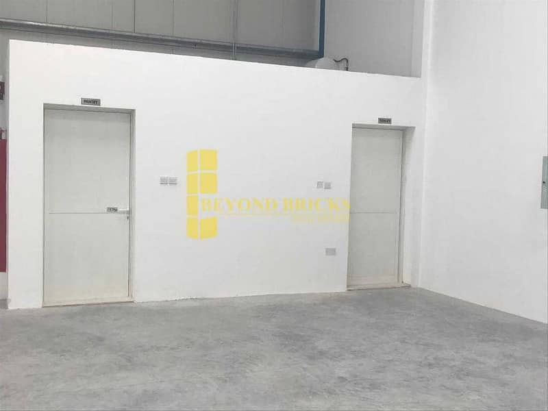 2 Fully Secured Warehouse with Pantry and Toilet