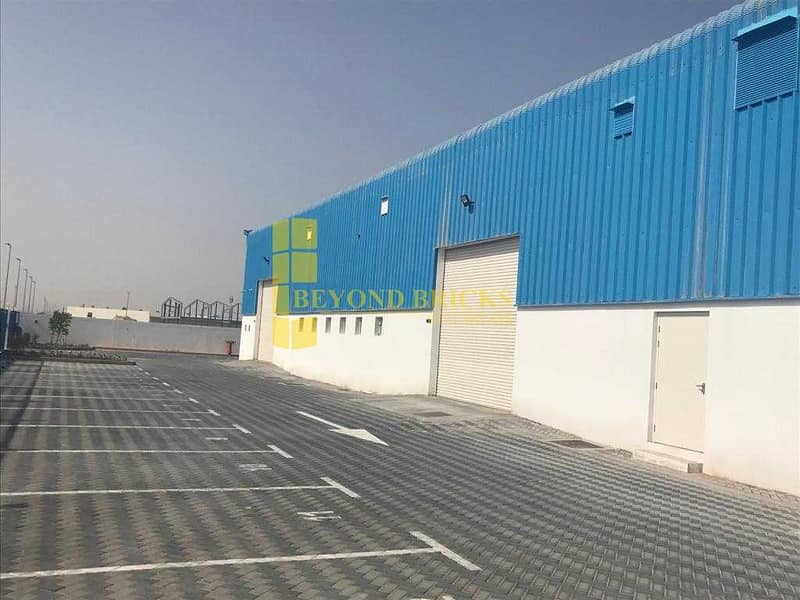 Huge and Fully Secured Warehouse with Mezzanine Area