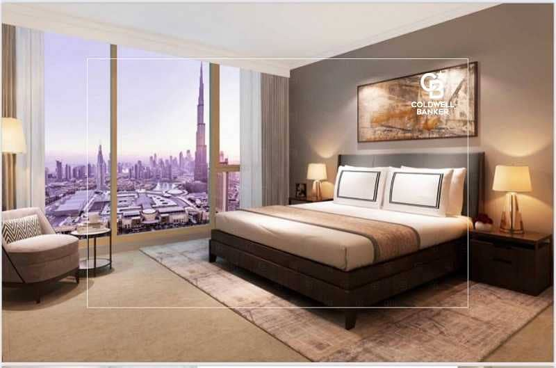 2 Fountain and Burj Khalifa View -3 Beds plus Maid