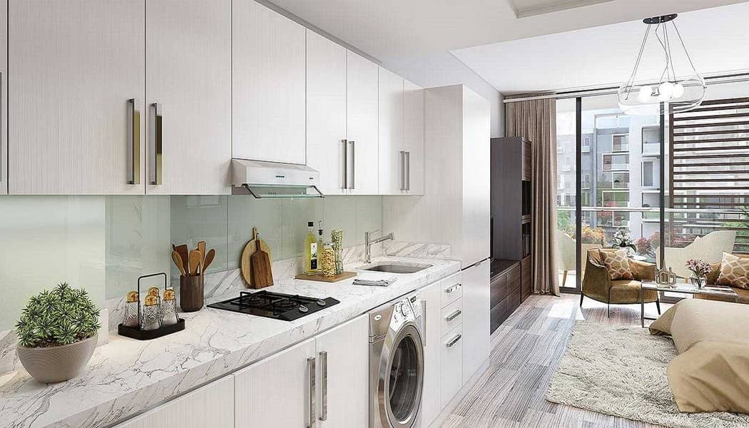 2 Stunning Studio Apartment with Furnished Kitchen in Dubai Health Care City at Creek Views by Azizi