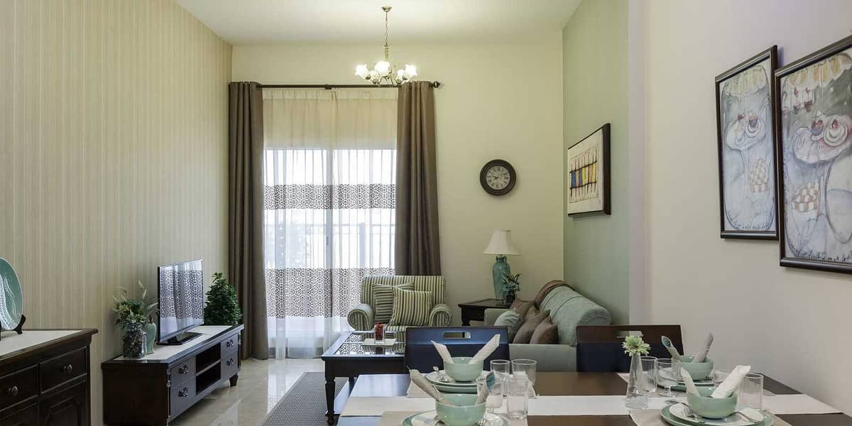 2 Ready To Move -In House in One-Bedroom Apartment in JVC / 10 - Years Payment Plan/ Pantheon Elysee