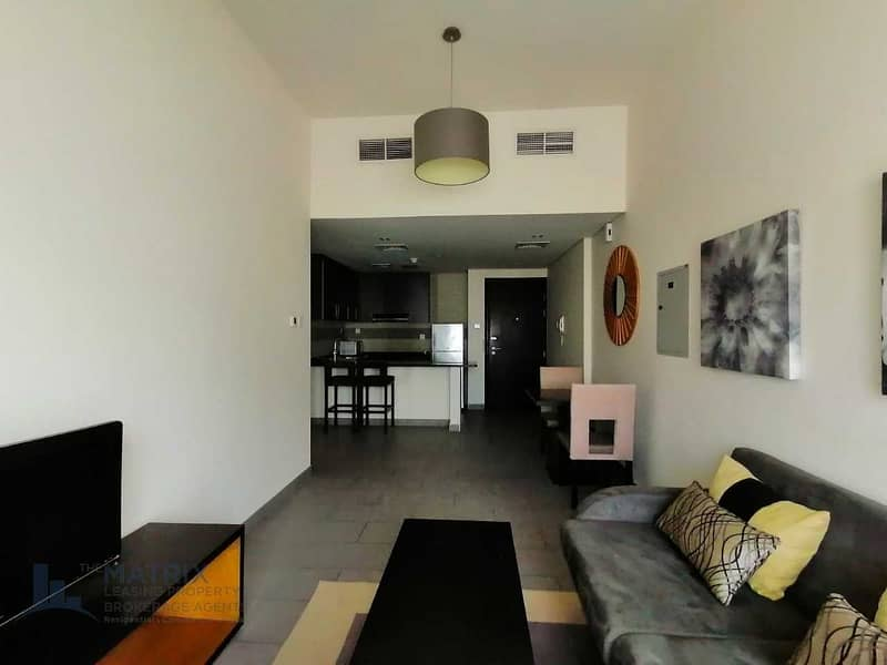 Furnished 1 BR  with balcony at the Bridge
