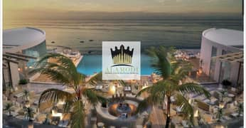 Invest and Own a Resort Suite in Al Marjan Island, Directly on the Sea (Fully sea view) .