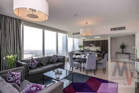 2 Bedroom Hotel Apartment for Rent in Sheikh Zayed Road, Dubai - 2 Br/Serviced/Furnished/Near Metro