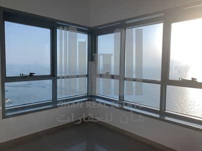 شقة 2 غرفة نوم للايجار في كورنيش عجمان، عجمان - unique 2 bedroom Full Sea View | AC Free