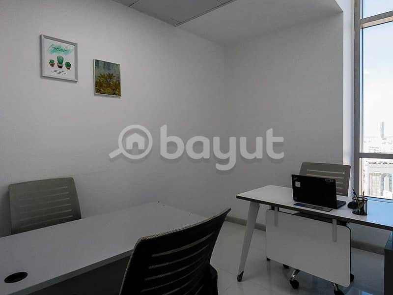 2 Office Space At AED 10000 | Al Musalla Tower| Near Metro