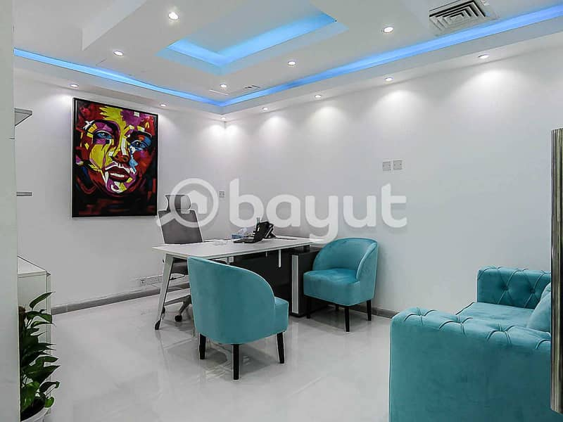 10 Office Space At AED 10000 | Al Musalla Tower| Near Metro