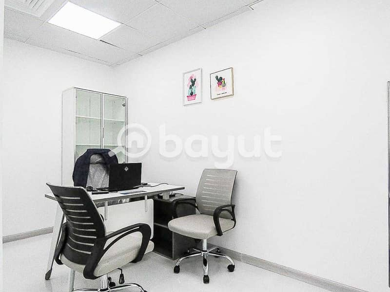 Fully Furnished And Serviced Office | Al Musalla Tower | Near Metro
