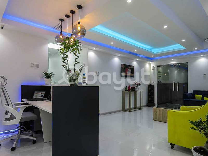 10 Fully Furnished And Serviced Office | Al Musalla Tower | Near Metro