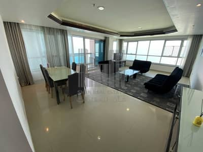 2 Bedroom Flat for Rent in Corniche Ajman, Ajman - Montlhy | 2 Bed | Furnished Sea View | All Included |