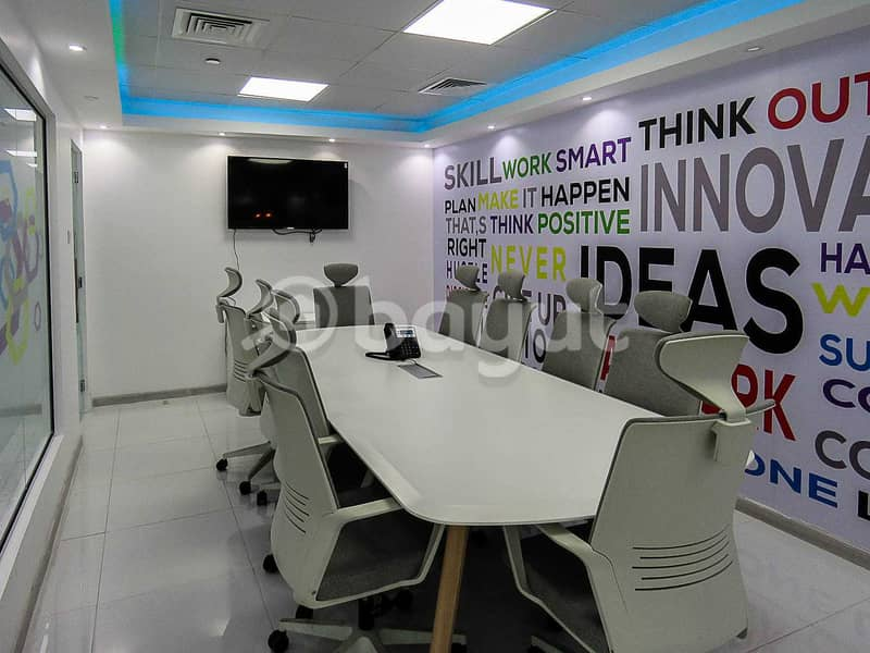 2 Flexi Desk Office For Rent | Al Musalla Tower | Bur Dubai