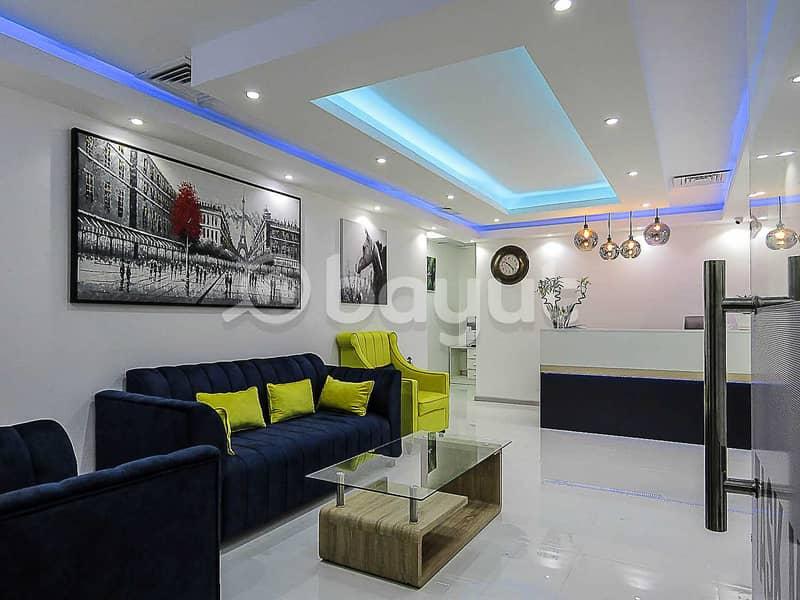 10 Stunning Flexi Desk Office | Fully Serviced | Al Musalla Tower