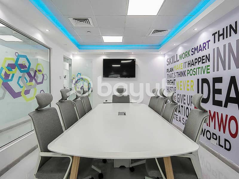 10 Brand New Fully Furnished Office | Swimming Pool View | Near Metro