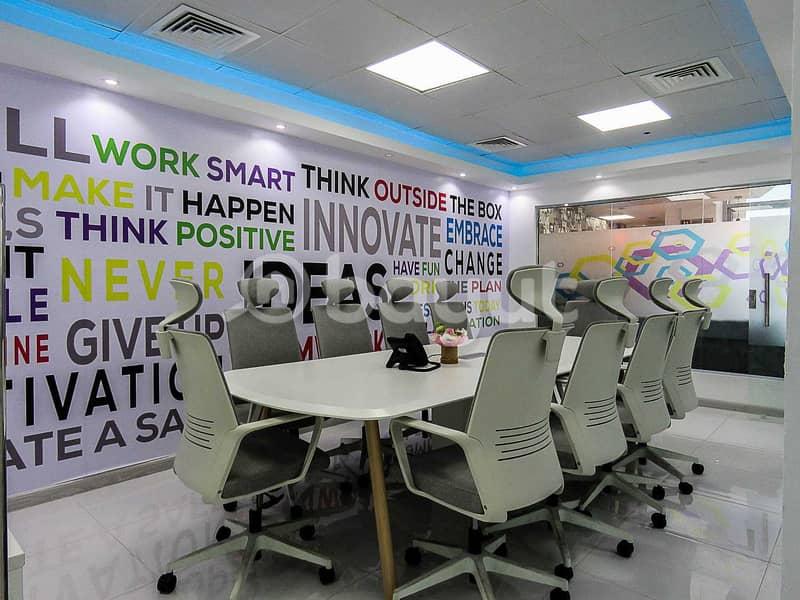2 Smart & Flexi Desk Office At 18k Only   Al Musalla Tower  
