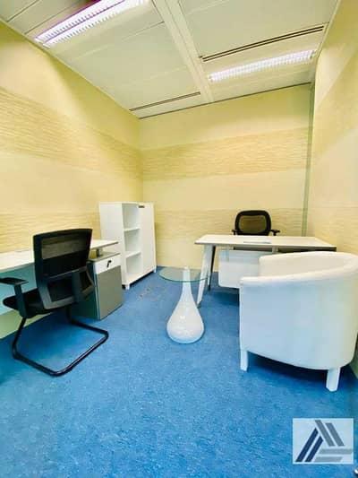 مکتب  للايجار في بر دبي، دبي - ONE Payment  Fully Furnished Smart Office - Linked with Mall and Metro