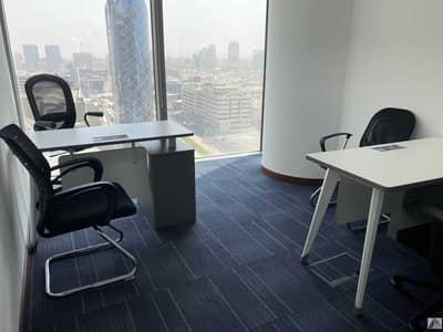 مکتب  للايجار في بر دبي، دبي - Single payment Fully Furnished Serviced  Office suitable for 2 staff/ Linked with Metro