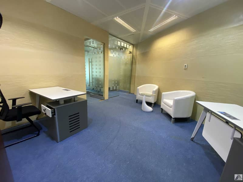 Remarkable Location  Fully Fitted Independent Office for  8persons  Linked with Metro and Mall