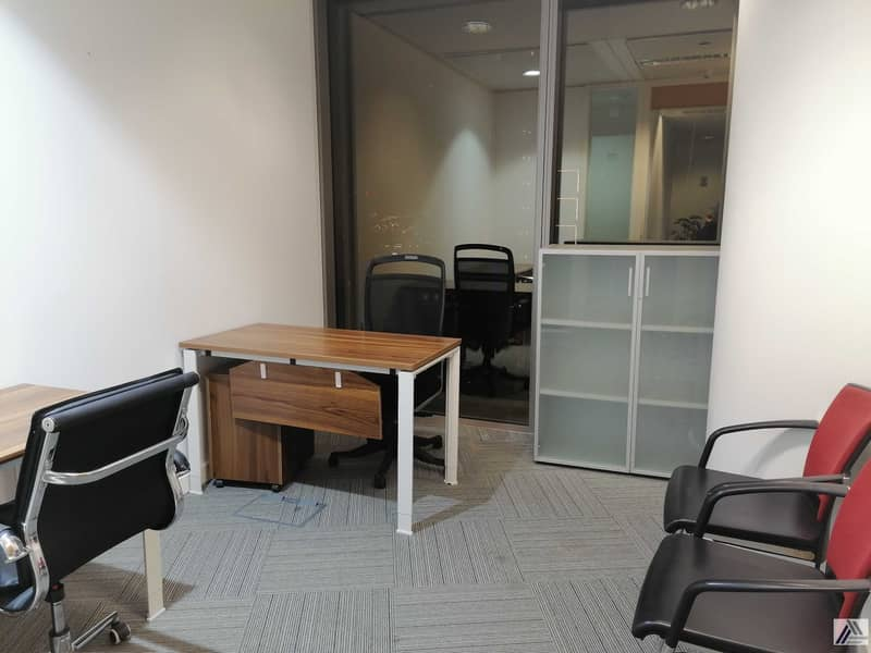 2 Affordable Fully Furnished Office   All Amenities Free  Linked with Mall and metro