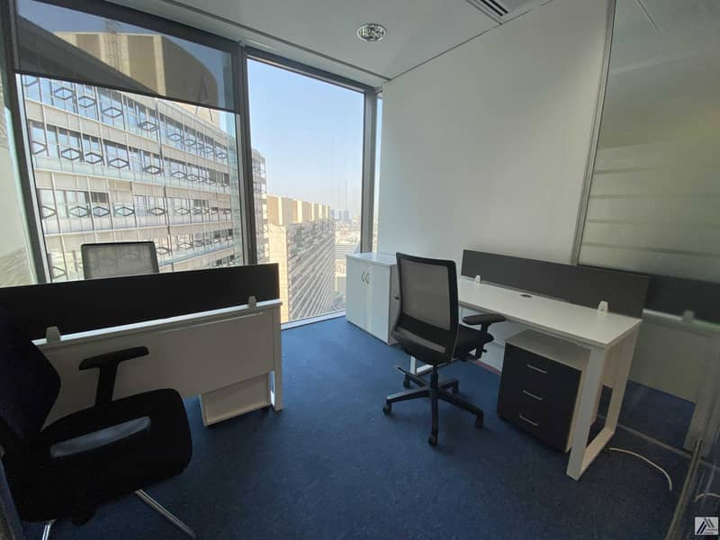 14 Affordable Fully Furnished Office   All Amenities Free  Linked with Mall and metro
