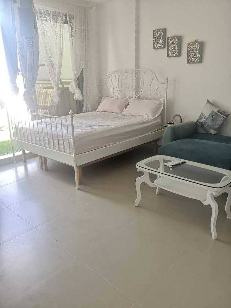 Furnished Studio Sea View with FREE AC full CVU only for 25K AED!!!