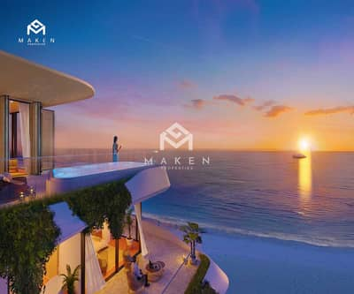 Plot for Sale in Al Jurf, Abu Dhabi - Lands on the sea with an exemption from maintenance fees and services for a period of 3 years