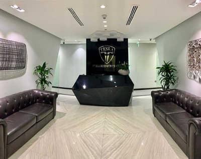 مکتب  للايجار في الخليج التجاري، دبي - Free Utilities | Modern Furnished Offices | One Year Ejari