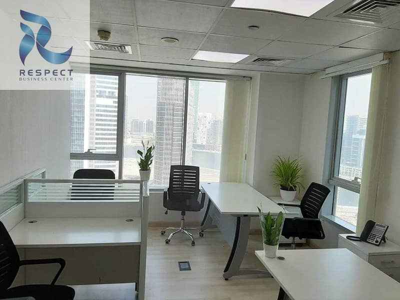2 SHARING Office with FREE sponsor EJARI| NO VAT |NO COMMISSION