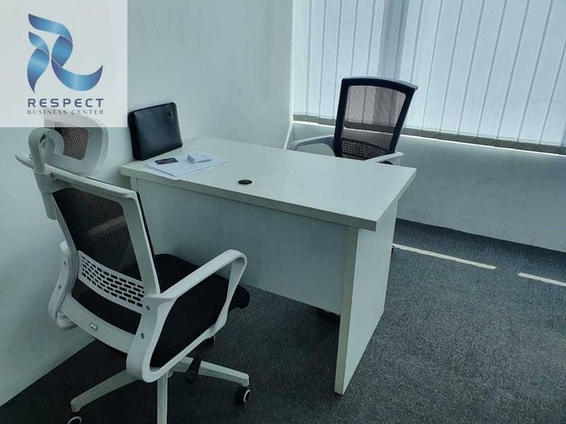 17 Flexi Desk/Estedama For Trade License Renewal For AED 2000/-
