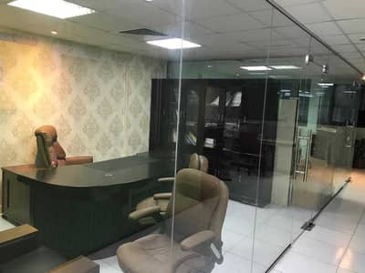 Office for Rent in Al Rashidiya, Ajman - HUGE SIZE / WITH PARTATION AND FURNTURE / AED 35,000/-