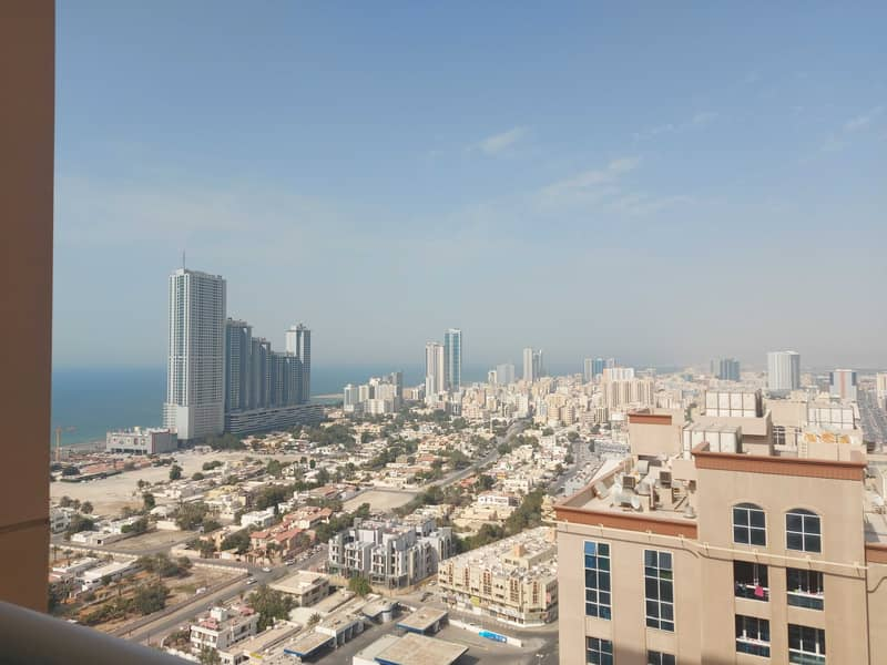 FOR SALE :EMPTY 2BHK +STORE+LAUNDRY SEA &FULLY OPEN VIEW IN AJMAN ONE TOWERS AJMAN ONE
