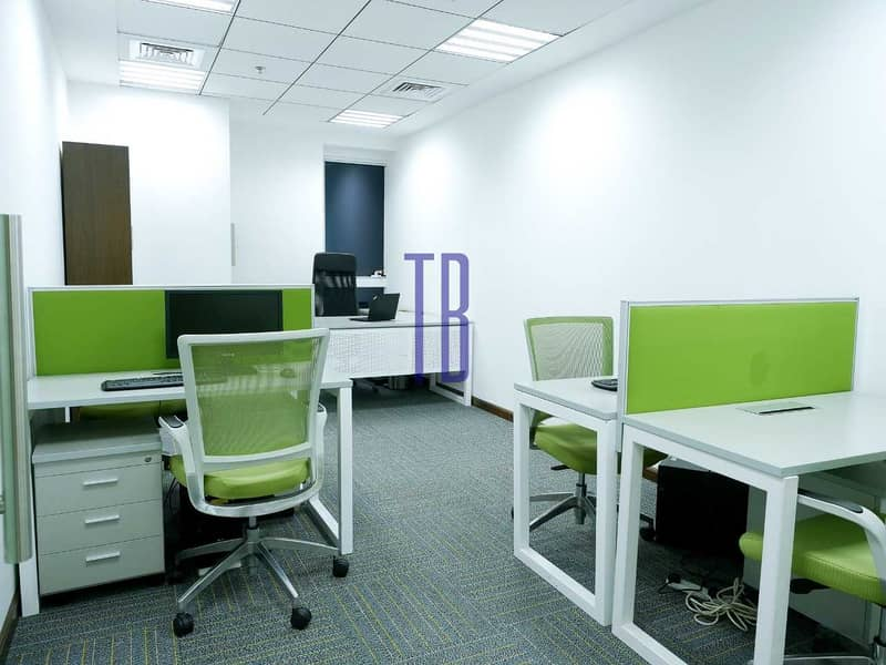 10 Fully Furnished Offices | SZR | Great Prices
