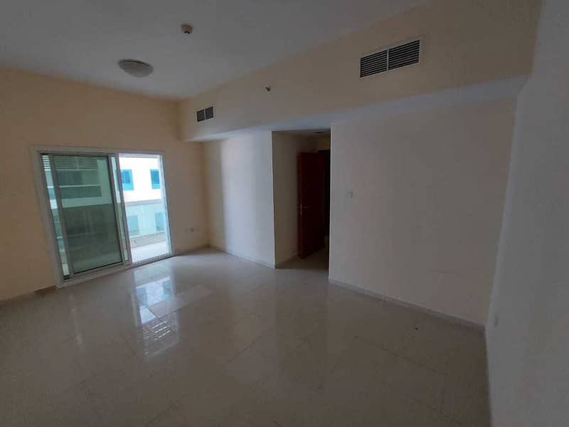 Hot Deal . Ajman Pearl Towers :Spacious 1 Bed Hall With 2 Washrooms Good View