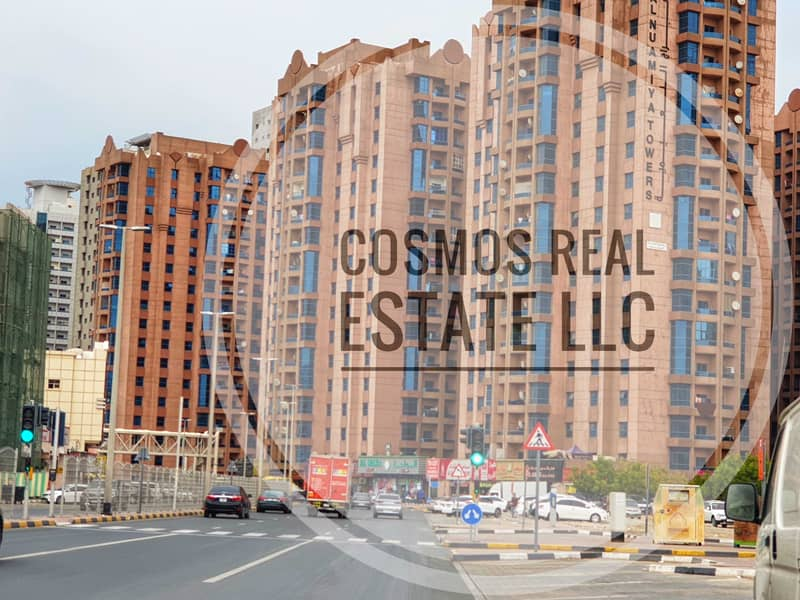 2 BHK Nuaimiya Tower For RENT 30,000/-  4 and 6 Cheques